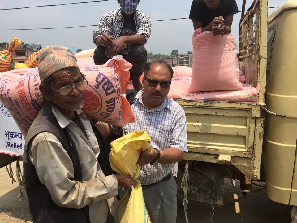 Earthquake relief support  by FSCN